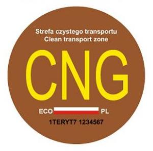 naklejka na samochód zasilany gazem CNG